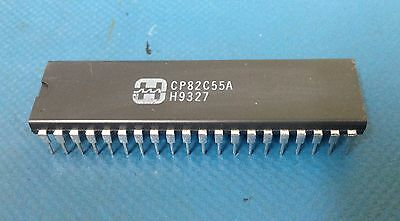 x2 **NEW** HARRIS CP82C55A, PERIPHERAL INTERFACE, IC, 40-pin DIP