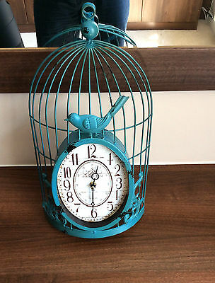 New shabby Vintage French Chic Style Birdcage Indoor Outdoor Wall Clock Retro