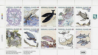 Marshall Islands 2016 MNH Wildlife 10v M/S Whales Dolphins Birds Turtles Stamps