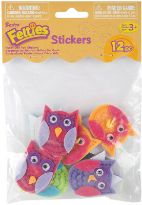 Felties Stickers 10/Pkg Funky Owls FLT-2783