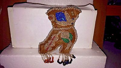 Antique Small Beaded Boot Pin Cushion