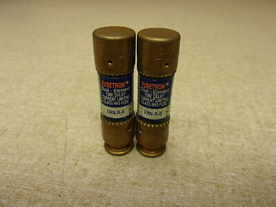 Fuse Fusetron FRN-R-6 Time Delay, Dual Element, Lot of 2 *FREE SHIPPING*