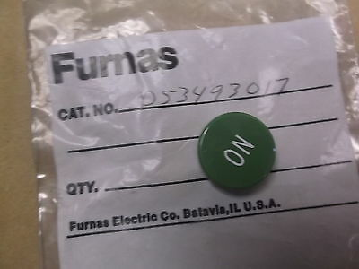 "Furnas D53493017 Green ""ON"" Position switch Cover *FREE SHIPPING*"