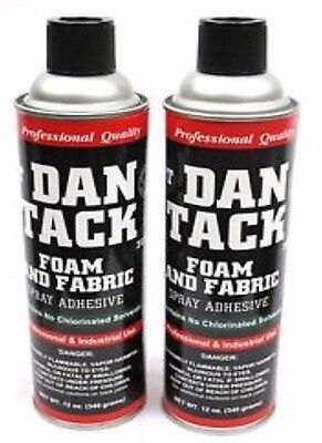 2 Dan Tack Professional Foam & Fabric Spray Glue / Adhesive Big Can 12 oz