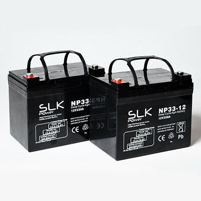 2 x 12v MOBILITY SCOOTER BATTERIES PRIDE SHOPRIDER ROMA STERLING TGA KYMCO DRIVE