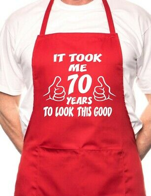 70th Birthday It Took 70 Years BBQ Cooking Funny Novelty Apron