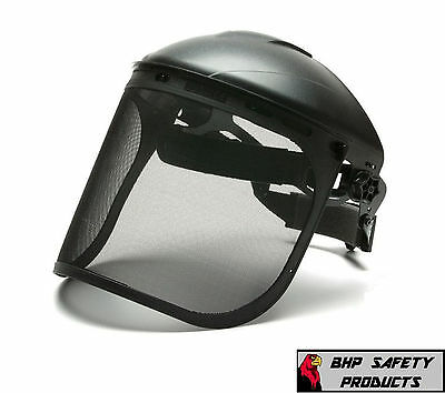 "PYRAMEX S1060 BLACK STEEL MESH SAFETY FACE SHIELD 8""x15.5"" ANSI Z87.1 (1 EACH)"