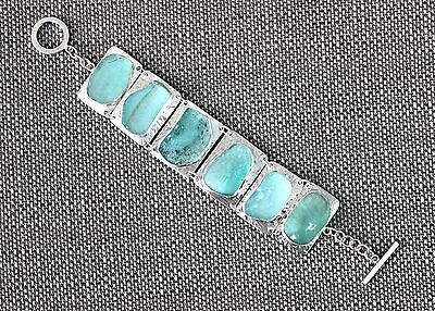 Top Quality One of A Kind Ancient Roman Glass 925 Silver Bracelet
