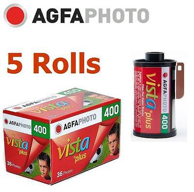 5 Roll x AGFA AgfaPhoto VISTA Plus 400 ISO 36exp 135 35mm Color Film Exp.2018