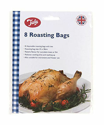 Tala Oven Roasting 8 Bags Ideal for Chicken, Fish, Meat Cooking 25 x 38cm