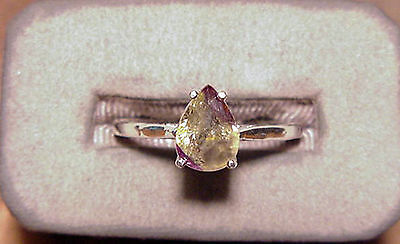 "Natural Ceylon Alexandrite Pearshape Sterling Silver Ladies Ring 1.89Ct ""new"""