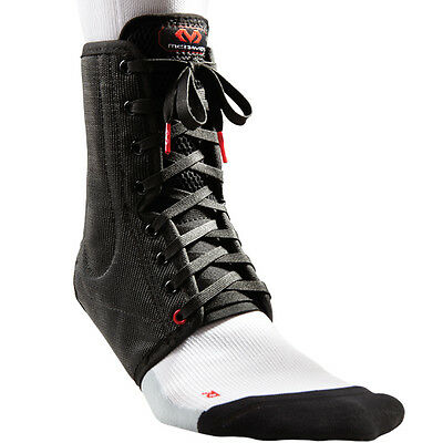 McDavid Classic Lightweight Ankle Support Brace Lace-Up With Stays, Black Medium
