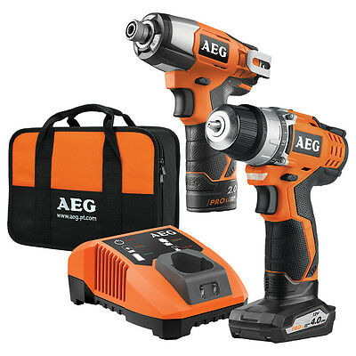 AEG 12V Limited Edition Cordless Impact Driver/Drill Driver Kit Pack Combo