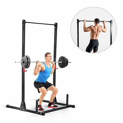 Soozier Power Squat Rack Adjustable Height Strength Training Fitness  Pull Up