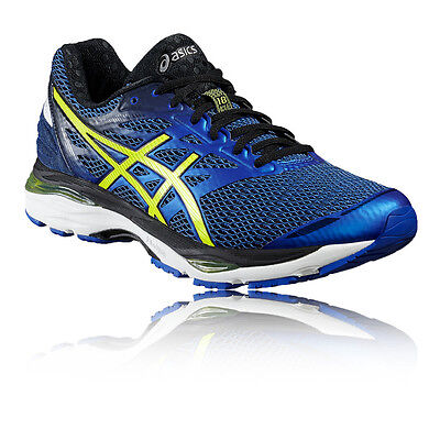 Asics Gel-Cumulus 18 Mens Blue Black Cushioned Running Sports Shoes Trainers