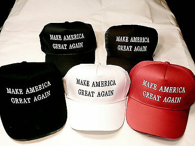 Embroidered,make America Great Again,donald Trump Look Truckers Hat, 5 Colors,,