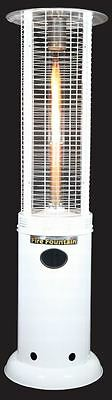 Fire Fountain White, Outdoor Heater, LPG, Natural Gas, Patio Heater, Flame