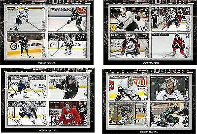 Famous Hockey Players 4  Souvenir Sheets  Mnh Unperforated
