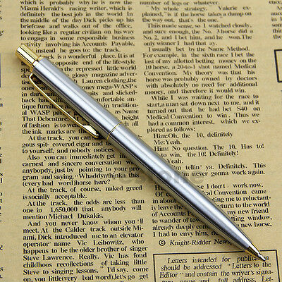 Hot New Classic BAOER 37 stainless steel Push Ball Point Pen