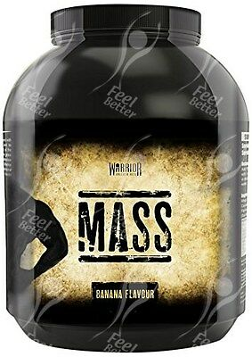 Warrior Mass - Mass Gainer, Banana Flavour - 2.6kg
