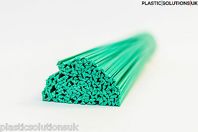 HDPE Plastic welding rods (4mm) green 30 pcs /triangle /PEHD/ polyethylene