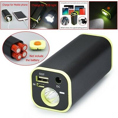 New Portable LED Flashlight Multi-function Charger Box Mobile Power Bank  Tool