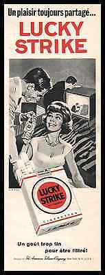 1961- Lucky Strike  ad cigarettes  Vintage Advertising