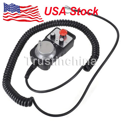 US Universal CNC 4 Axis MPG Pendant Handwheel & Emergency Stop for Siemens t