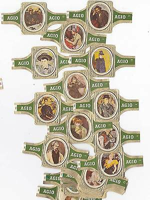 24 cigar bands Agio impressionists green iss in 1971