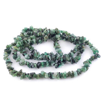 Long Strand Of 300+ Green Shaded Emerald 4-6mm Chip Beads DW1765