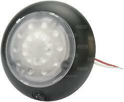 Led Interior Round Lamp Light With Switch 12 24 Volt Caravan Motorhome 171677