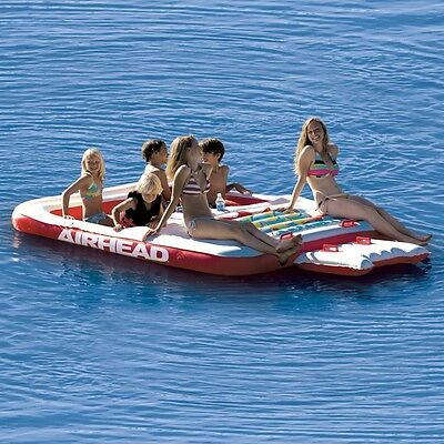 Airhead Cool Island Inflatable Tube Lounging Floating Island for pools & beach