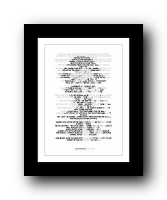 BRUCE SPRINGSTEEN Incident On 57th  ❤ song lyric poster art typography Print #21