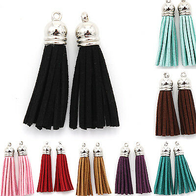 Fine 1Pc Faux Leather Velvet Fashion Tassel Pendant For Jewerly Bags Chains