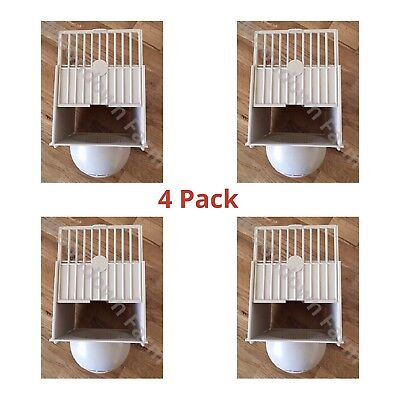 4 x Plastic Canary Nest Pan Hangs on outside of Cage for Canaries, Finches etc