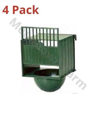 4 x PLASTIC NEST PAN BOX HANGS ON OUTSIDE OF CAGE IDEAL FOR CANARIES /FINCHES
