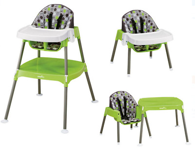 Portable Baby Convertible High Chair Infant Toddler Feeding Booster Seat Safety