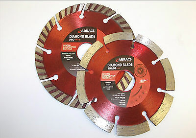 DIAMOND CUTTING DISCS ANGLE GRINDERS CONCRETE MASONRY 115mm 125mm 230mm 300mm