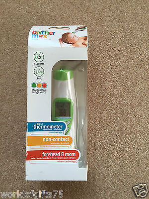 Brother Max Non-Contact Forehead & Room Digital Thermometer Baby New