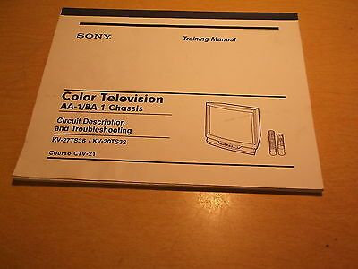 Sony Color TV AA-11VA-1 Chassis Troubleshooting Circuit Desc. Course: CTV-21