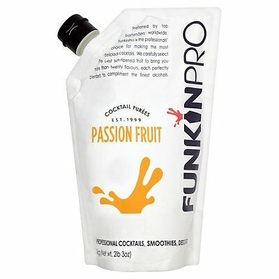 Funkin Pro Passion Fruit Puree, 1kg Cocktail Drink Bar NEW