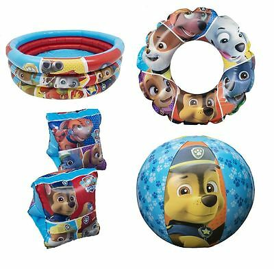 Paw Patrol Inflatable Swim Ring Pool Arm Bands Beach Ball Kids Float Toy