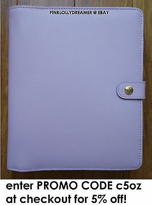 Kikki K LILAC large A5 personal planner diary agenda w/ inserts