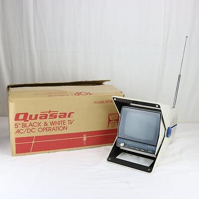 "RARE NEW OLD STOCK Quasar 5"" B&W Miniature TV AC/DC FM/AM Orig Box XP1478 XH"