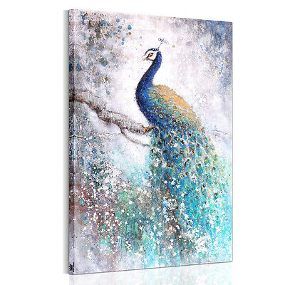 HD Canvas Prints Home Decor Wall Art Painting Picture-Beautiful Peacock Unframed