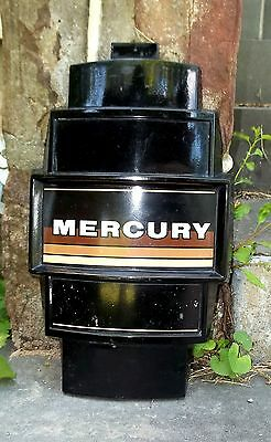 Mercury Outboard Motor Cowl Medallion Front Cover Face Plate Brown Tan Stripes