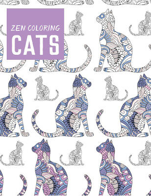 Guild Of Master Craftsman Books Zen Coloring: Cats GU-42809