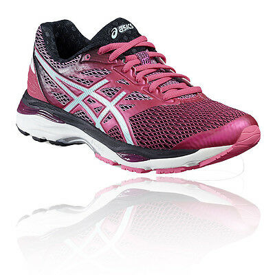 Asics Gel-Cumulus 18 Womens Pink Cushioned Running Sports Shoes Trainers