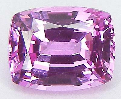 CUSHION 9x7 EXCELLENT CUT BEAUTIFUL COLOUR SWEET PINK LAB SAPPHIRE