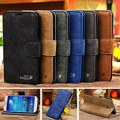 Genuine Leather Flip Wallet Case Cover For Samsung Galaxy Note 5 New